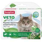 Капли от блох и клещей для кошек Beaphar Bio Veto Pure, 3 пип.