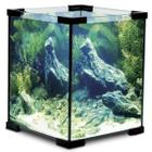 Аквариум Laguna Crystal, 18 л, размер 25х25х30см., серебро